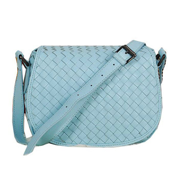 Bottega Veneta intrecciato nappa cross body bag BV13006 sky blue